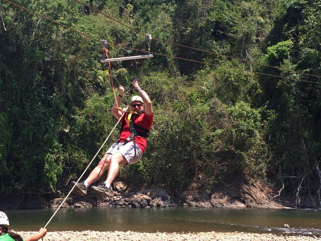zip line in borneo