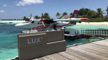 seaplane at the lux south ari atoll