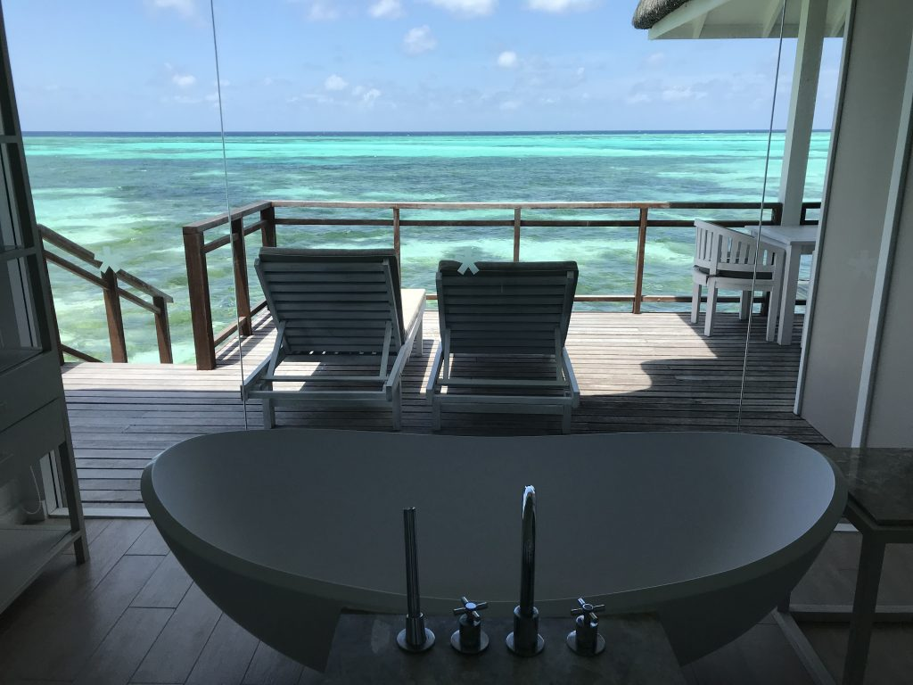 water villa room at lux in maldives