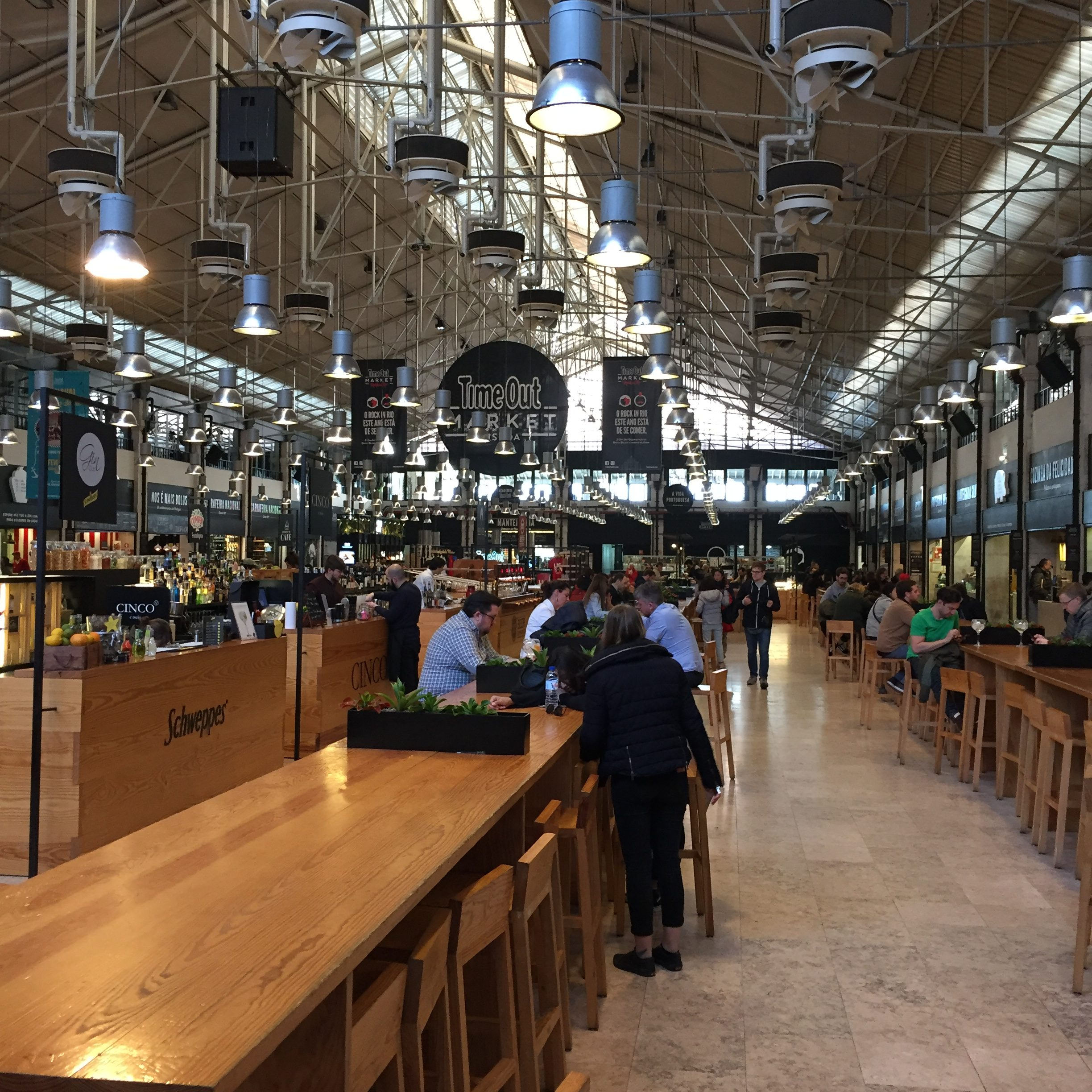 inside time out market in lisbon