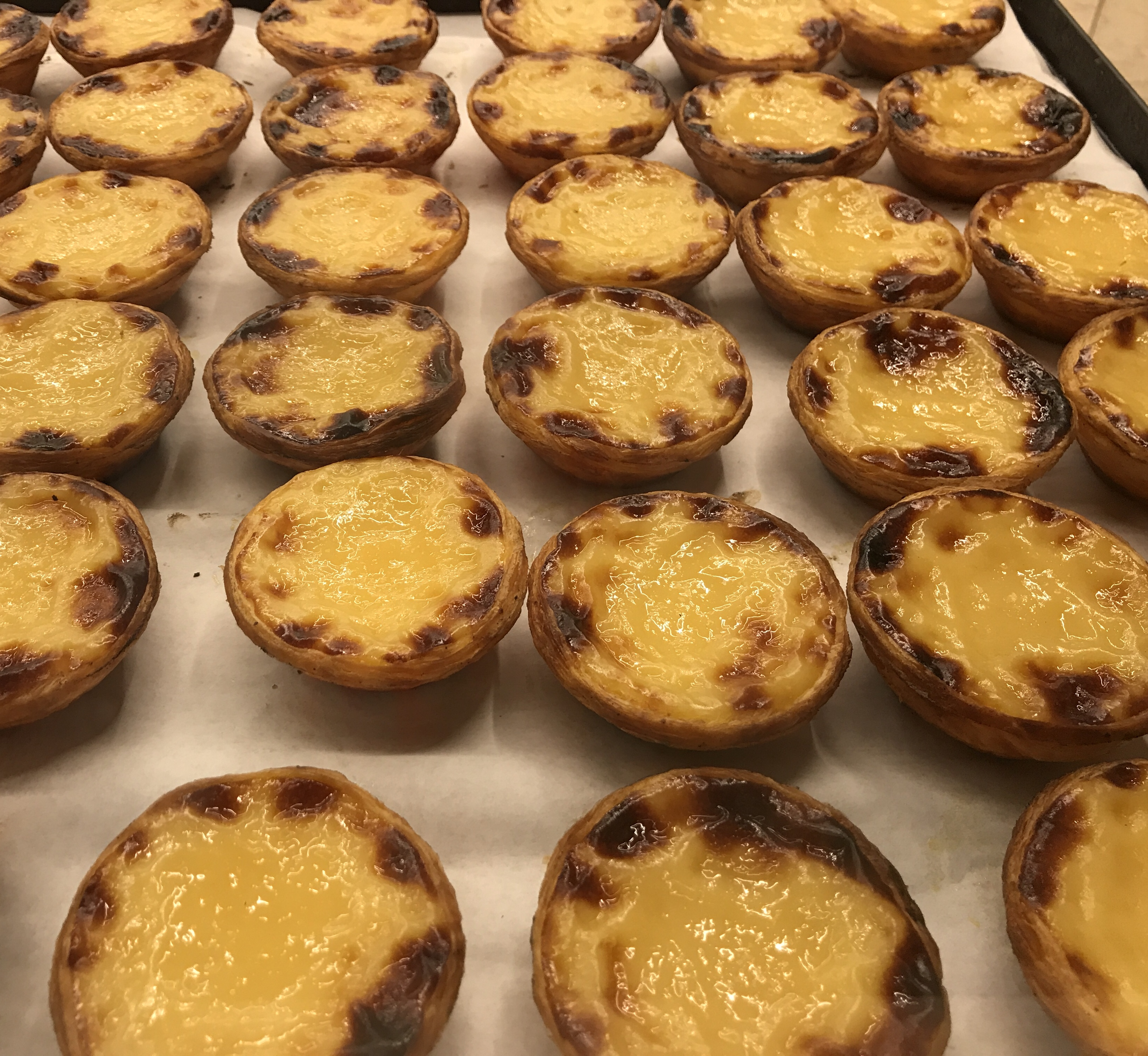 Portugese egg tarts at time out market in Lisbon