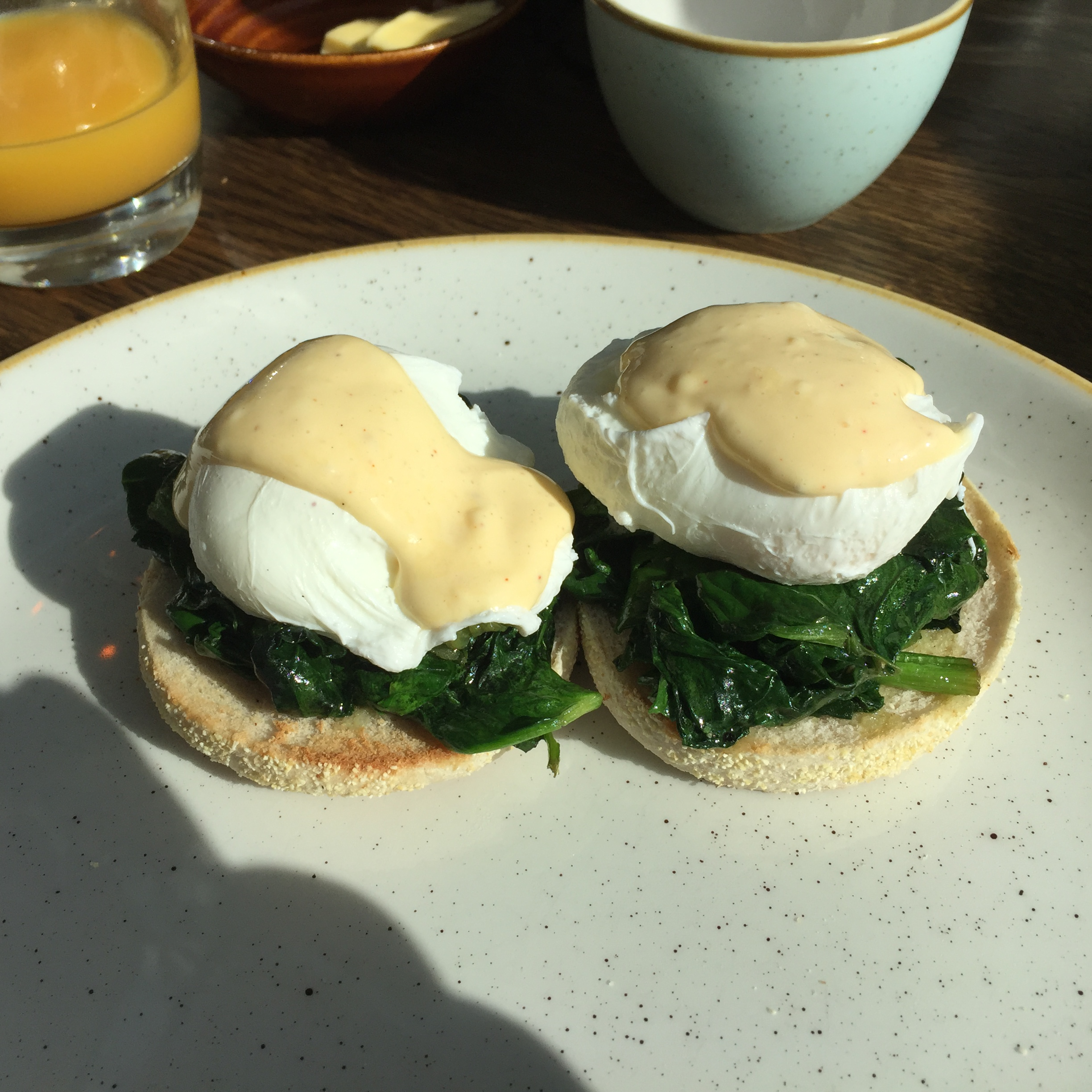 eggs florentine at alexander pope hotel