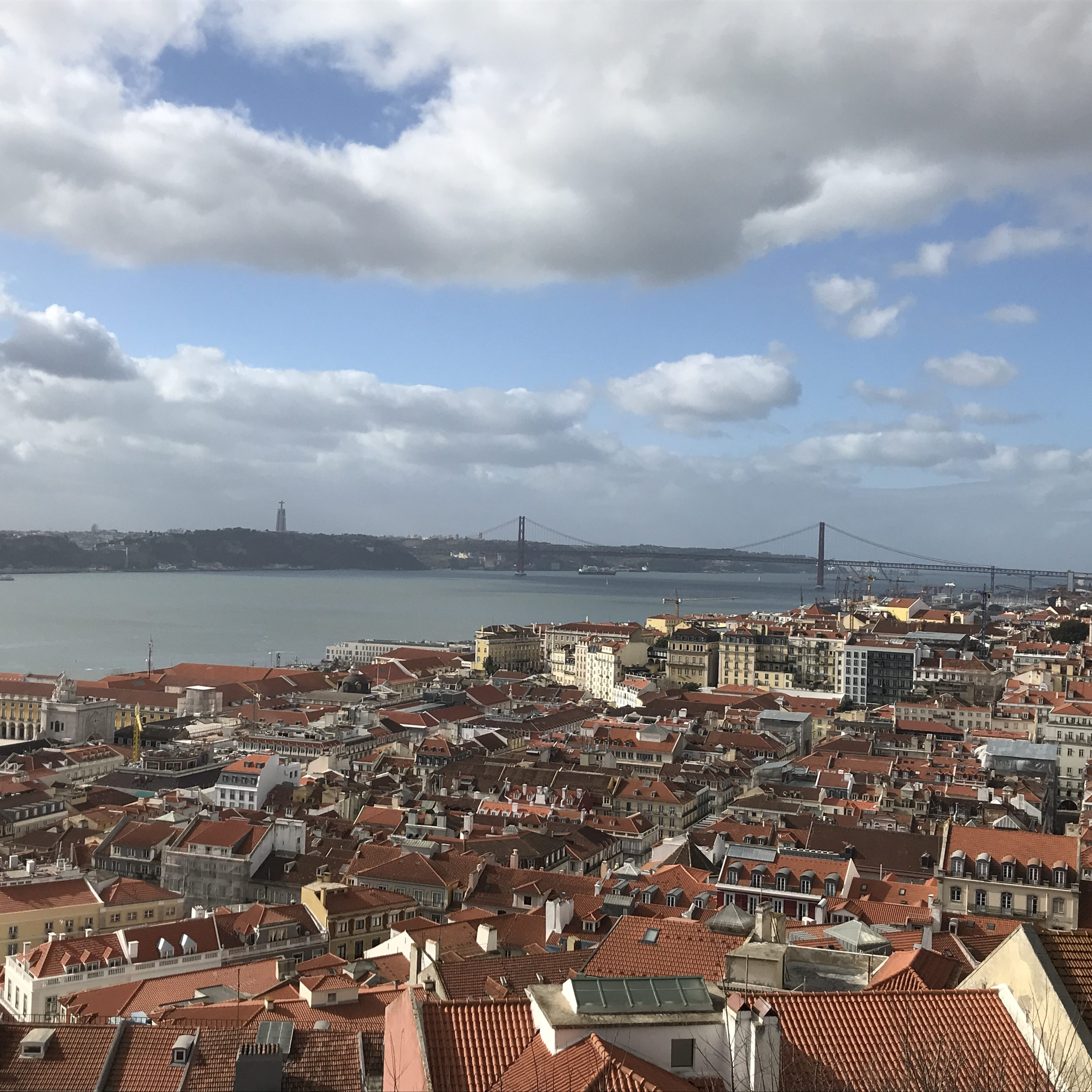 views from São Jorge Castle in Lisbon, Portugal