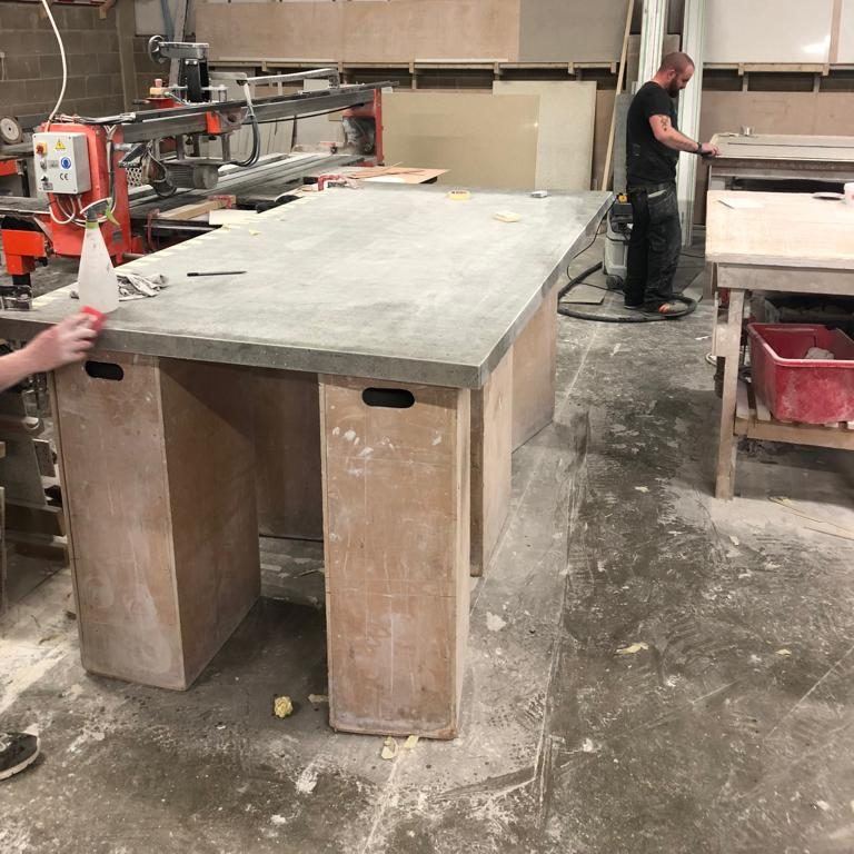 granite transformations table in workshop